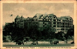 RARE VINTAGE POSTCARD- HOTEL ROANOKE, ROANOKE, VA   BK21 - $9.80