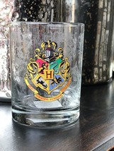 Universal Studio Harry Potter Hogwarts Crest Stain Short Glass Cup New - $19.58