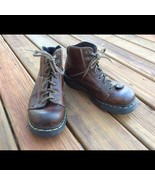 Dr Martens Air Wair 8A07 Brown Leather Lace Up Grunge Y2K Boots Mens 11 UK/12 US - $45.80