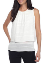 Nwt Tommy Hilfiger Ivory Career Blouse Size L $59 - $23.50