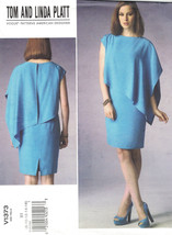 Vogue 1373 Tom & Linda Platt Capelet Cocktail Dress Pattern Choose Size ... - $14.54