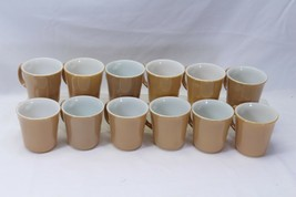 "Corning Corelle Almond Tan Mugs 3.5"" Lot of 12 - $54.87"