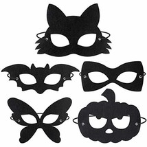 Amosfun Halloween Masquerade Eye Mask Felt Masks Pumpkin Butterfly Bat Shaped Ey