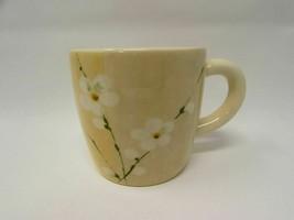 Mug Blossom by ROYAL STAFFORD Radio B330 Set of 2 Orchid Stems On Tan/T... - $14.01