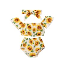 Newborn Toddler Baby Girl Flower Clothes Off Shoulder Tube Tops Shirts +... - $10.99