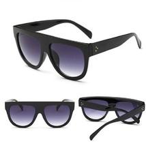 Flat Top Mirror Cat Eye Unisex Sunglasses Luxury Brand Classic Fashion S... - $9.98