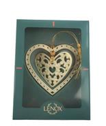 Lenox Vintage Porcelain Heart Double Christmas Ornament - $13.99