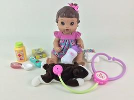 Baby Alive Doll Better Now Baby 2008 Brunette Drink Wet Hasbro Accessori... - $35.59