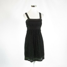 Black eyelet CYNTHIA STEFFE sleeveless A-line dress 6 - $29.99