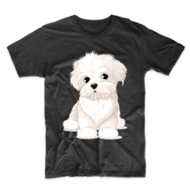 Cartoon Maltese Puppy Dog Owner T-Shirt - ₹1,725.01 INR+