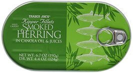 Trader Joe's Kipper Fillets Smoked Herring in Canola Oil and Juices - $9.99