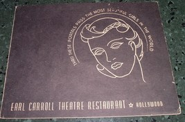 Vintage 1944 Souvenir Photograph Earl Carroll Theatre Restaurant Hollywo... - $9.00