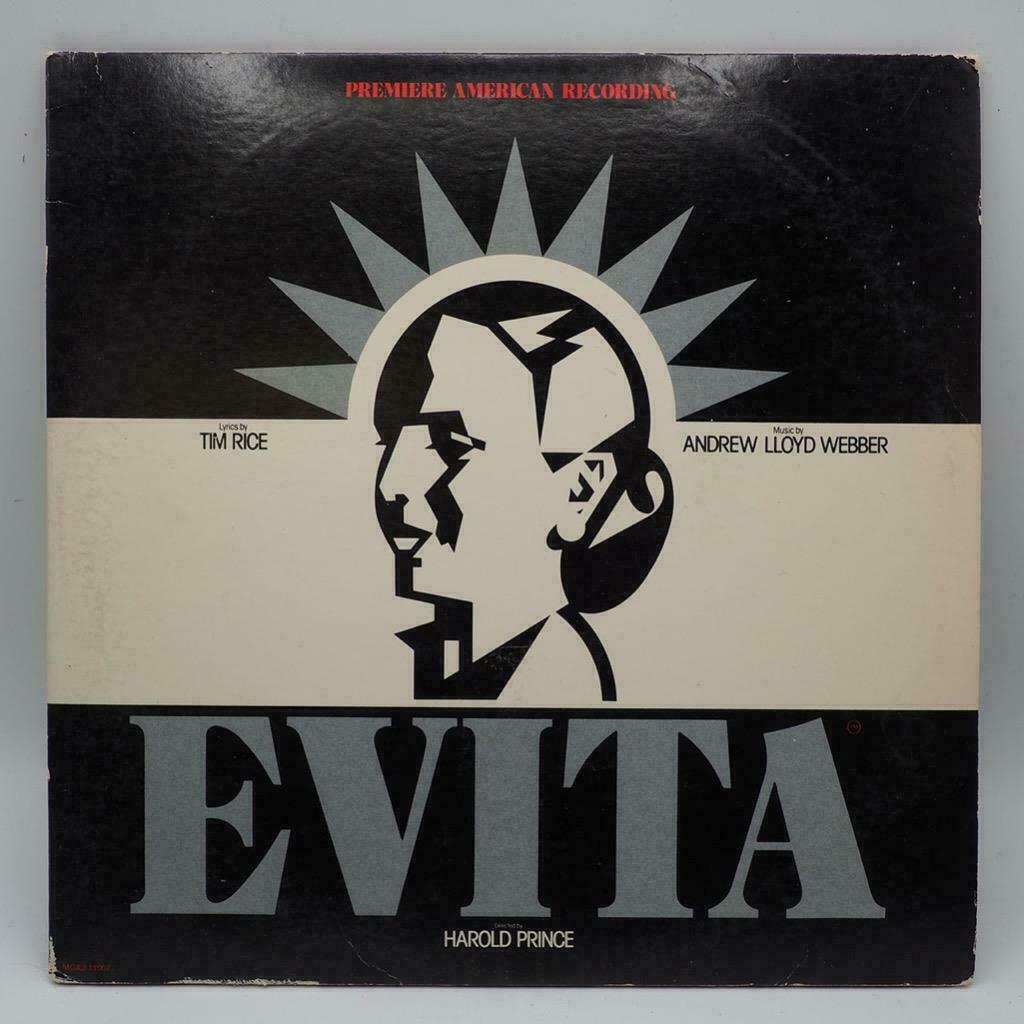 Evita Vinyl Record LP Double Record Broadway Andrew Lloyd Webber 2 RECORDS EX