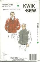 Kwik Sew Sewing Pattern 2531 Mens Vest Jacket Size S M L XL XXL New - $12.99