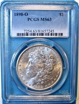 1898-O PCGS Morgan Silver Dollar. MS63. MG4. - $74.00