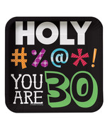 7 inch Square Lunch Plates 30th Holy Bleep, Case of 96 - $53.06