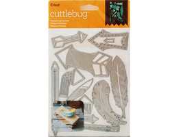 Cricut Cuttlebug Feathers and Arrows Die Set #2003470