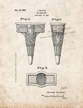 Ice Cream Cone Patent Print - Old Look - $7.95+