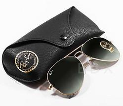 b8ea9bac93bb9 Ray-Ban Sunglasses Aviator Gold Frame G-15 Classic Green Lens RB3025 L0205  58mm