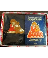 1982 Applause Little Orphan Annie & Sandy Jewelry Pin w/Original Box - $29.69
