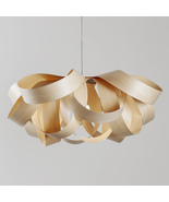 Gross-S (2 Lights) Artisan Compact Chandelier Made with Sustainable Wood... - $360.00
