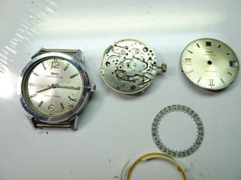2 VINTAGE CARAVELLE 12 JEWEL TRANSISTORIZED WATCH AND MOVEMENT PARTS - $108.85
