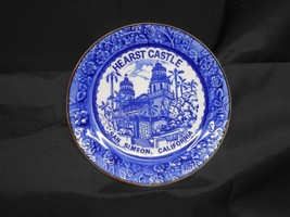 Hearst Castle Blue Floral Embossed Flowers & Leaves Porcelain Collector ... - $8.75
