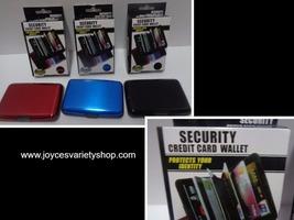 Security Credit Card Wallet Blocks RFID Scanning NIB Various Colors Aluminum - $7.99