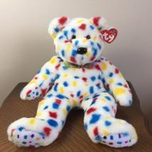 "TY Beanie Buddies Ty 2k Bear Large 14"" Holiday Plush Stuffed Animal 1999 Retired - $33.99"