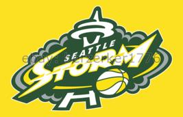 Seattle Storm WNBA 3'x5' yellow Flag Sue Bird Breanna Stewart USA seller... - $25.00