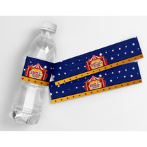 Circus Carnival Birthday Personalized Water Bottle Labels  - $21.78