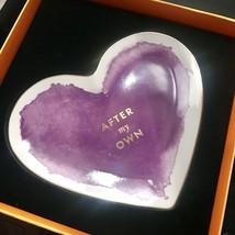 "Kate Spade Lenox Jewelry Dish Posy Court Heart 6.75"" Purple 24K Trim NEW... - $21.76"