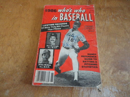 BOOK Who's Who In Baseball 1986 digest size annual periodical stats galore! - $2.99