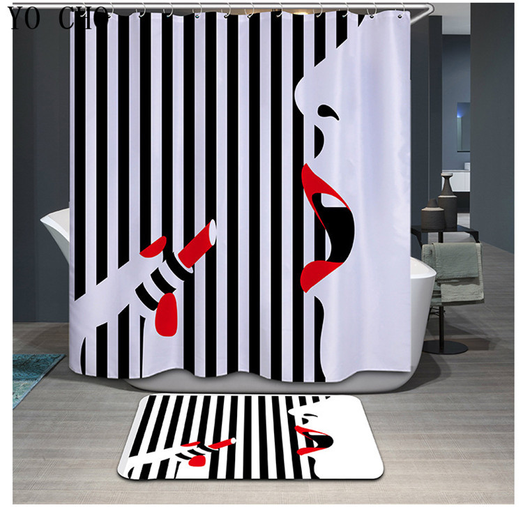 Primary image for Sexy Woman 05 Shower Curtain Waterproof Polyester Fabric & Bath Mat For Bathroom