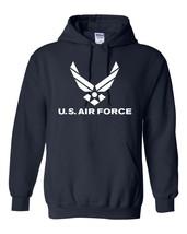 US Air Force Logo American Military USAF Unisex Hooded Hoodie Sweatshirt... - $19.75+