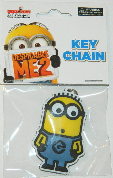 LICENSED NEW UNUSED Minions Movie Minion Bob as a Hobo Rubber Keychain