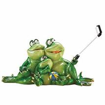 Collections Etc Selfie Time Frog Family Tabletop Figurine Novelty Decora... - $19.79
