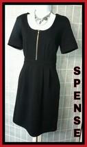 SPENSE BEAUTIFUL WEAR TO WORK DRESS SOLID BLACK RAYON BLEND SZ 6 - $24.18