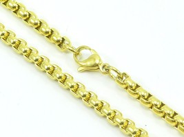 """Mens Womens Link Chain Rolo Necklace Stainless Steel 316L 30"""" 4mm 36g Go... - $13.98"""