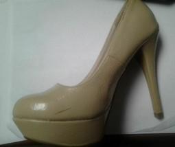 Qupid Nude Crinkle Pattern High Heels Size 5 1/2 - $23.75