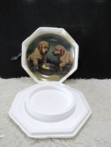 """Franklin Mint Fine Porcelain Gold Trim """"Duck Hunters"""" Decorative Plate - $7.67"""