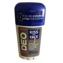 Kiss My Face Natural Man All Day Deodorant DEO Aqua Scent 2.48 oz. New - $16.73