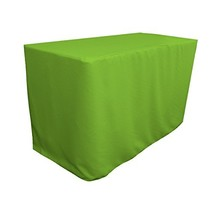 "LA Linen Polyester Poplin Fitted Tablecloth 48"" L x 24"" W x 30"" H, Lime - $53.57"
