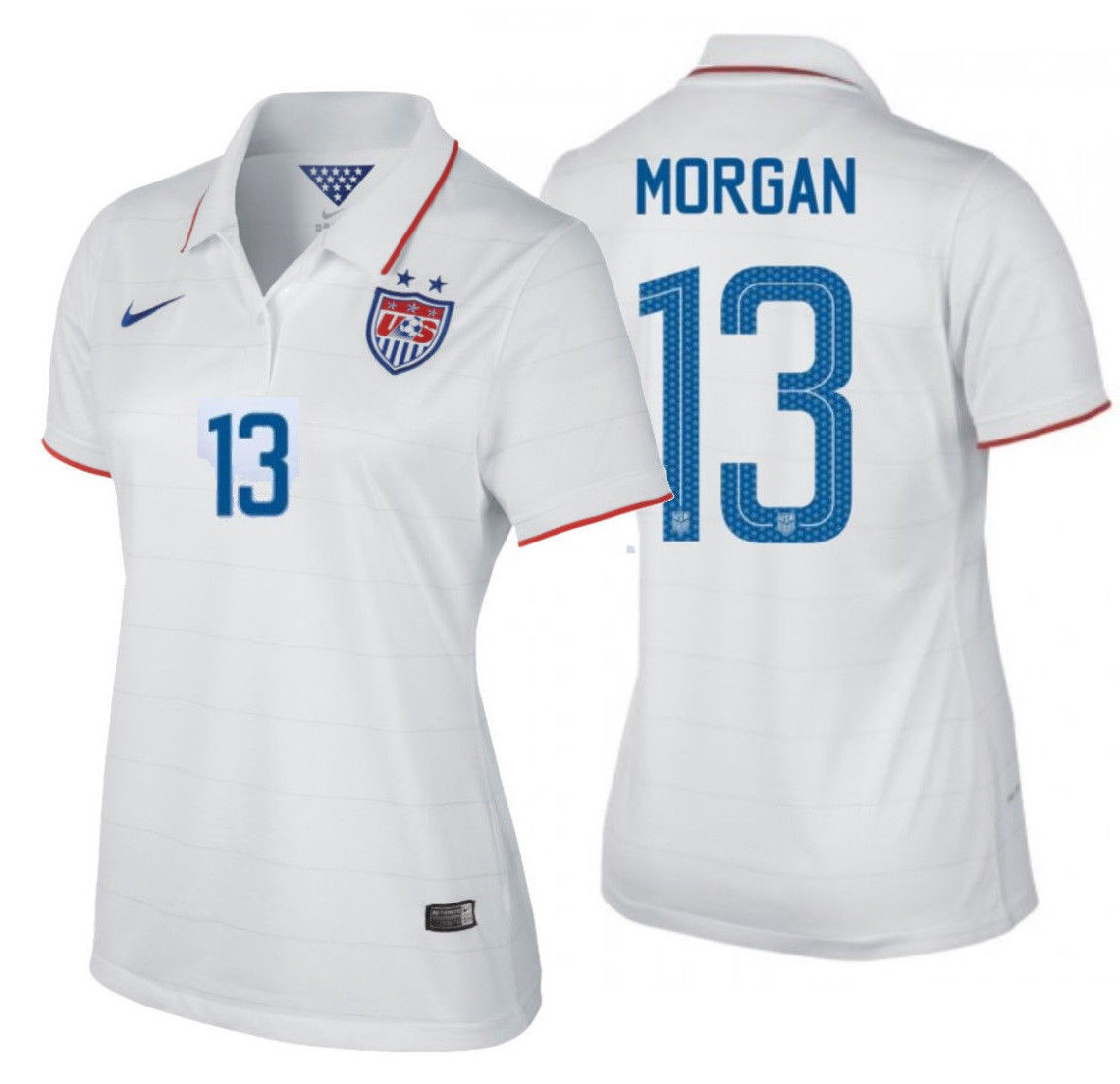 37ee7a9a254 S l16001. S l16001. Previous. NIKE ALEX MORGAN USA WOMEN S HOME JERSEY  USWNT FIFA WORLD CUP 2014. NIKE ALEX ...