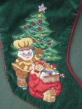 "HERSHEY'S CHOCOLATE CHRISTMAS STOCKING EMBROIDERED HERSHEY RARE 21"" Trad... - $14.24"