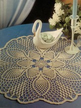 2X Exquisite Pineapple Oasis & Collectible Carnation Crochet DOILY Pattern - $6.99