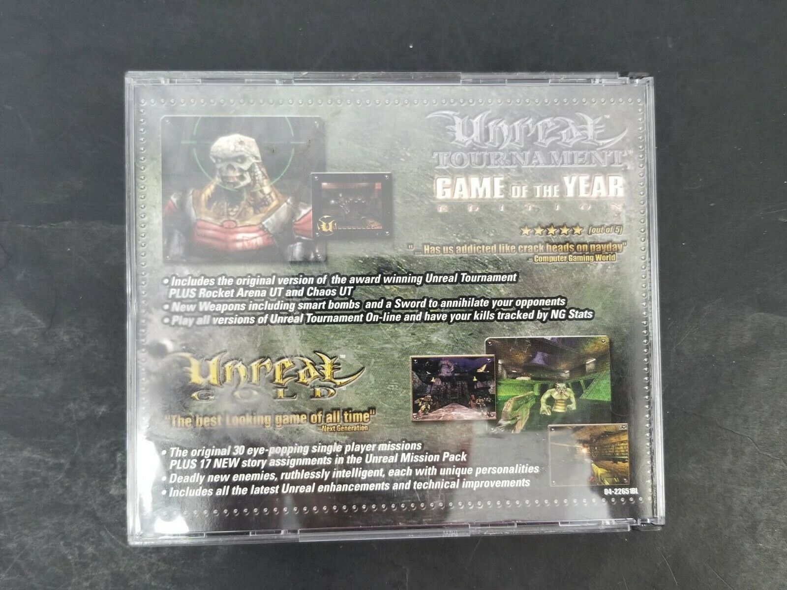 Totally Unreal PC Game CD ROM 2001 4 Disc Set Rated M Mature Computer Video Game