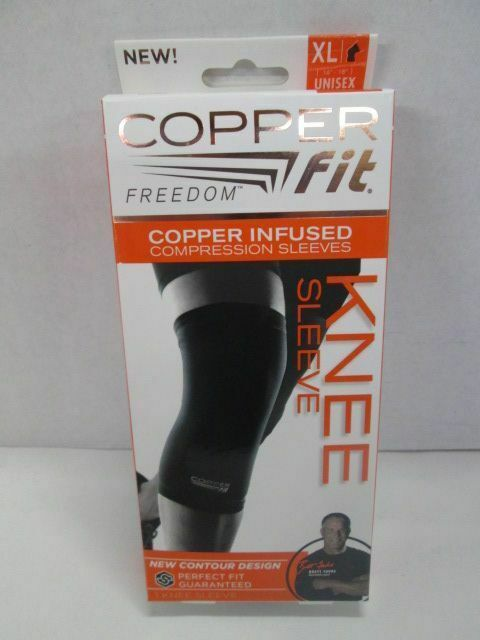 Primary image for Copper Fit Freedom Compression Knee Sleeve  UNISEX XLARGE BRAND NEW!