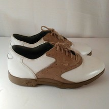 Nike Air Classic Plus White & Brown Saddle Golf Shoes Size 9 image 1