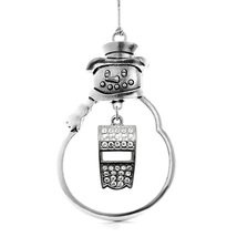 Inspired Silver 3.0 Carat Whistle Snowman Holiday Christmas Tree Ornament - $14.69